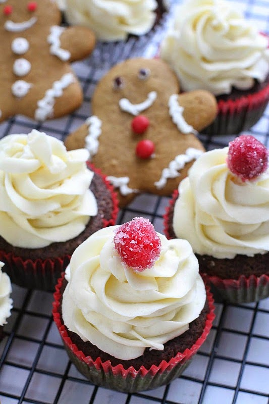 Chocolate Gingerbread Cupcakes with White Chocolate Buttercream by -- @LifeMadeSweeter @BobsRedMill #sponsored.jpg