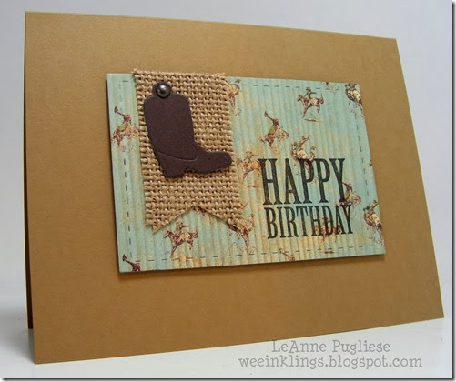 LeAnne Pugliese WeeInklings Paper Players 168 CAS Masculine Birthday