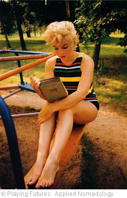 'Eve Arnold - Marilyn Monroe reading the last page of James Joyce's Ulisses  (1954)' photo (c) 2011, Playing Futures:  Applied Nomadology - license: http://creativecommons.org/licenses/by/2.0/