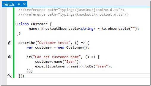 Atlantic Breeze: Testing TypeScript with Jasmine in Visual Studio