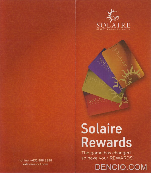 Solaire Membership Information Front
