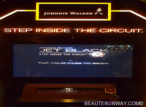 JOHNNIE WALKER Jet Black Party Step Inside interactive experience