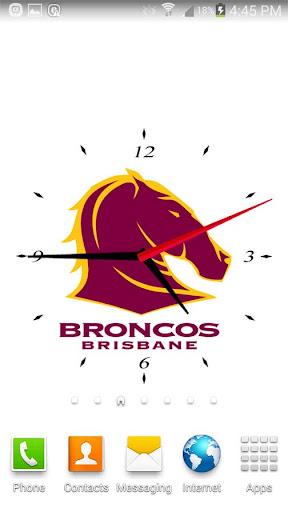 Brisbane Broncos Analog Clock