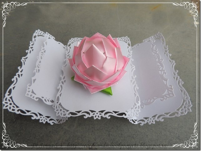 Cards Crafts Kids Projects Thermocol Crafts Lotus Tutorial