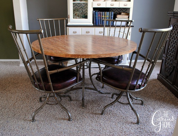 Faux Bamboo Metal Swivel Chairs8