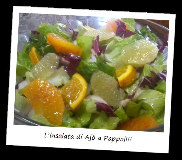 Fotografia del piatto chiamato l'insalata di Ajò a Pappai