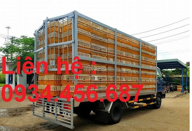 Xe Hyundai HD120sl 8 tấn chở gà