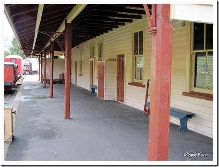 Platform of Little River railway station now preserved.