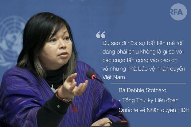Bà Debbie Stothard, Tổng Thư ký FIDH
