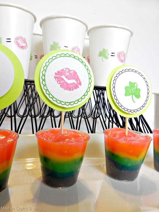 rainbow st patty's desserts