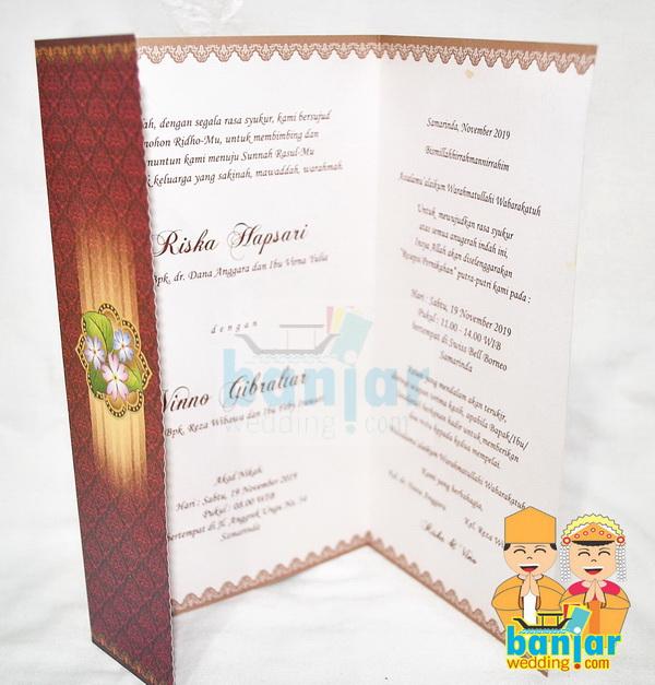 Undangan Pernikahan Murah Ub Mq07 Banjar Wedding Banjar Wedding