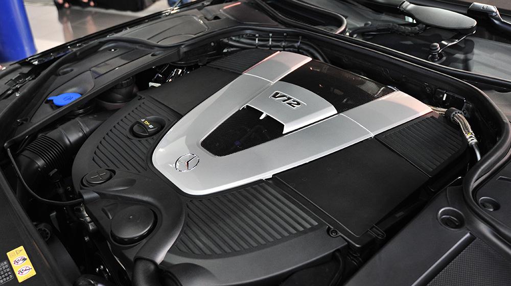 Động Cơ Xe Mercedes Benz S600 MAYBACH Màu Đen 01