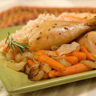 Herb Roasted Chicken & Vegetables.