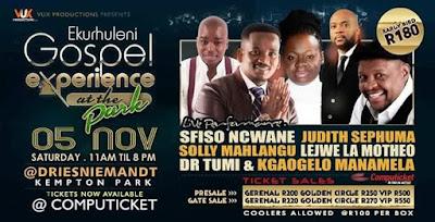 I am looking forward to the Ekurhuleni Gospel Experience At The Park