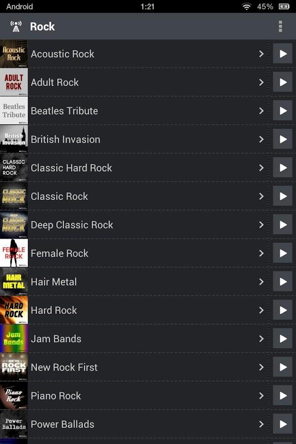 AOL Radio- screenshot