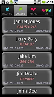 A Simple Call Log - screenshot thumbnail