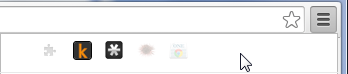 Chrome 39 new extensions toolbar overflow