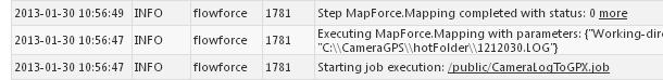 FlowForce job log