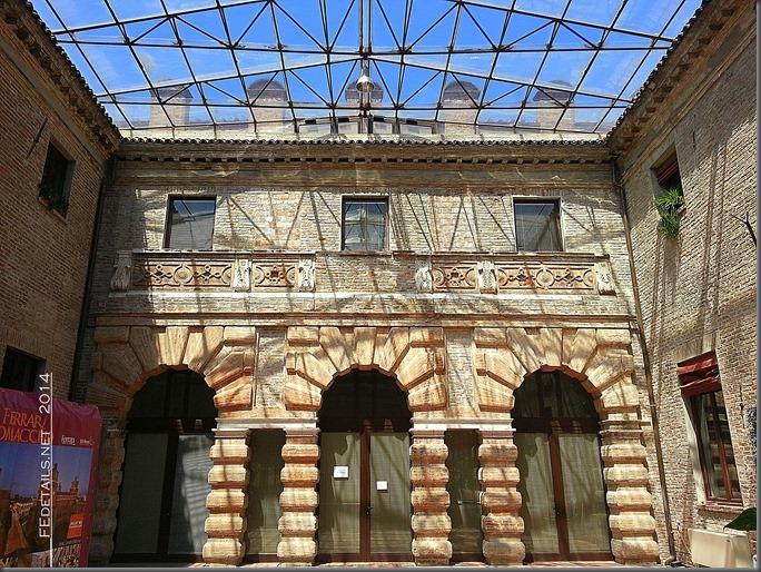 Piazzetta interna dei Bagni Ducali, Ferrara, Foto1