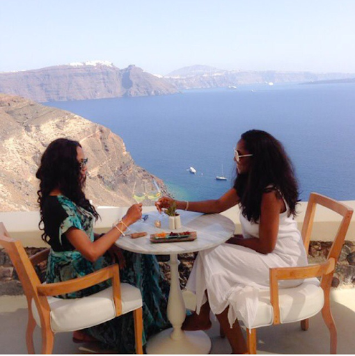 PHOTOS: Sylvia Nduka And Ene Maya's Vacation in Santorini Greece 17