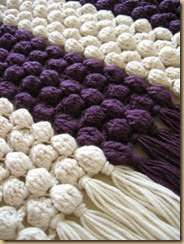 crochet shawl detail