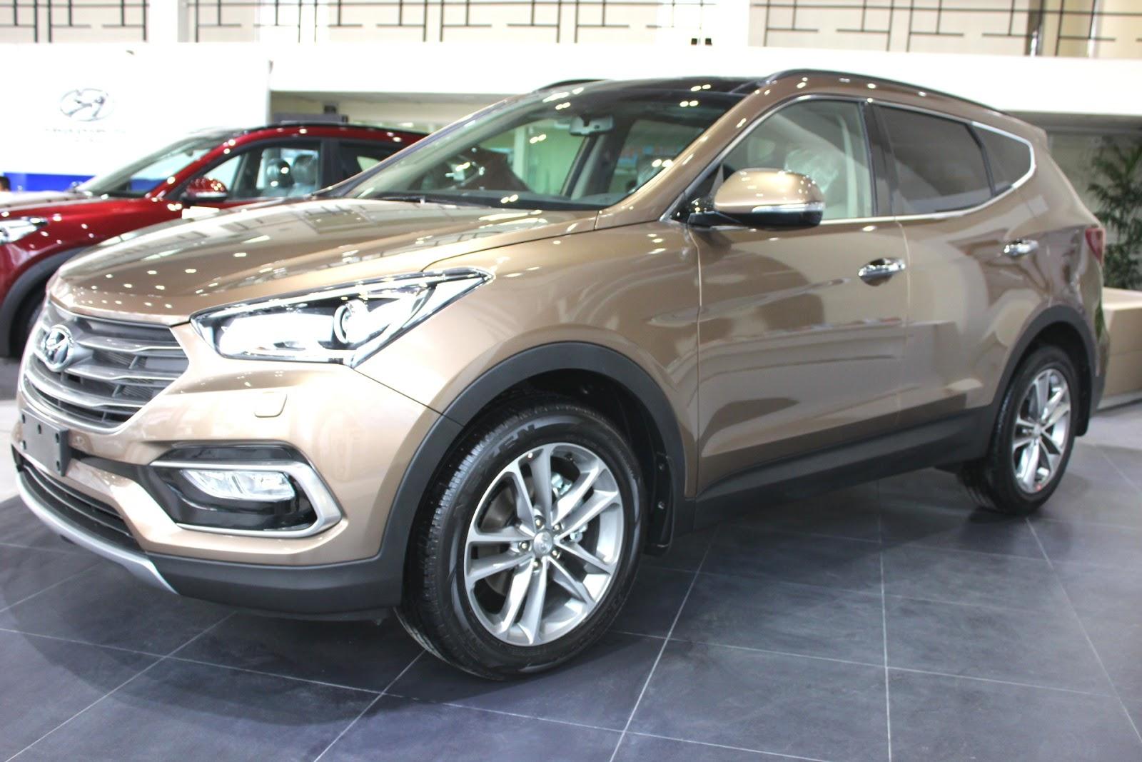 Xe Hyundai Santafe New Model màu nâu 04