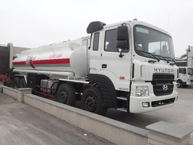 Xe chở xăng dầu Hyundai HD320