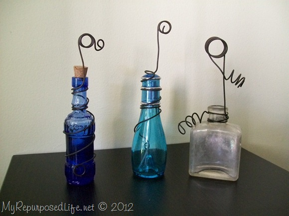 recycle repurpose small old bottles