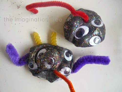 play dough monsters from The Imagination Tree