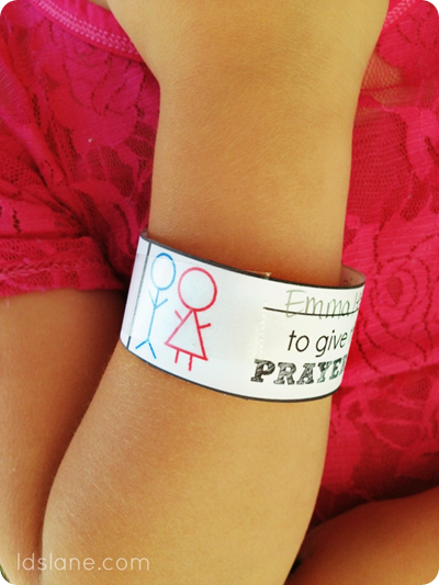 Free Printable Primary Wristbands by ldslane.com