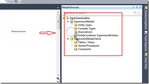 Model Browser in entity framework