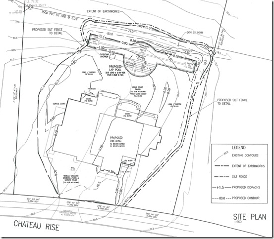 C3dXtreme Urban infill subdivision lot grading on steep terrain – Site Grading Plan