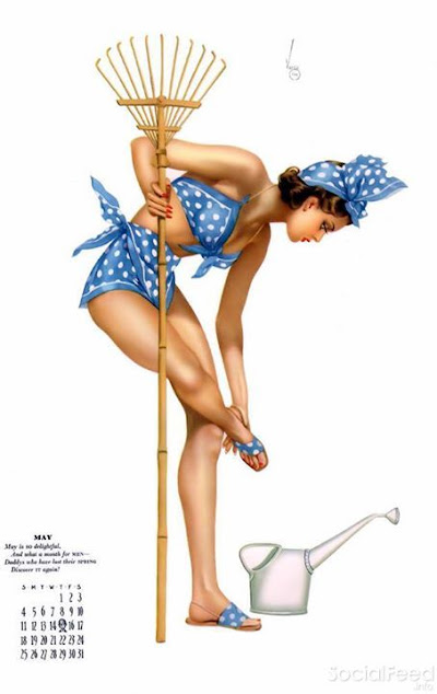 This months pinup is by Alberto Vargas and was featured as the
