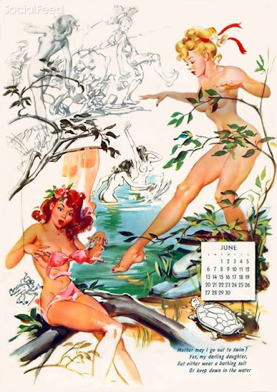 Our June pinup is by Joyce Ballantyne and is from the 1948