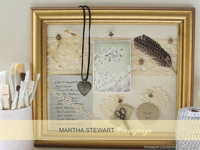 Martha Stewart Decoupage - Memo Board via homework (6)