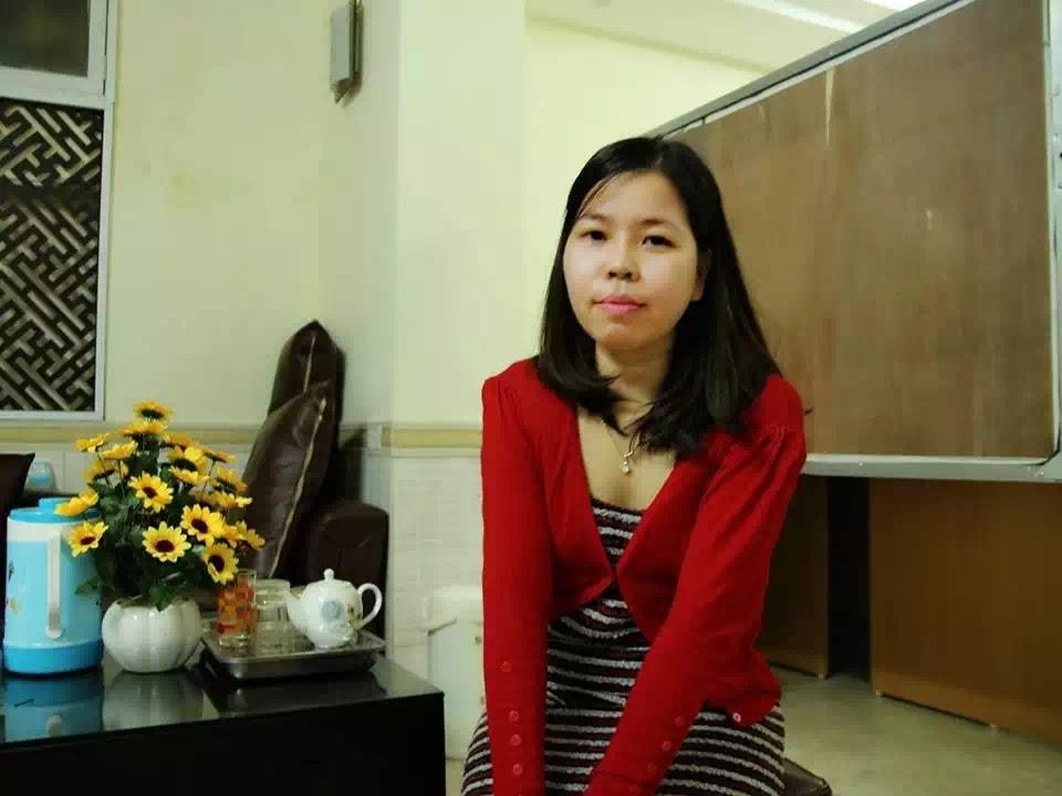 Lê Thu Hà hồi lúc trước khi bị công an Việt Nam bắt giam.