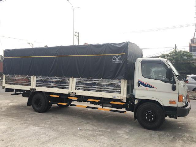 Xe tải Hyundai HD120sl thùng bạt chính hãng