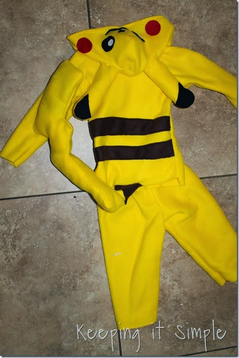 DIY Pokemon Pikachu Costume (3)