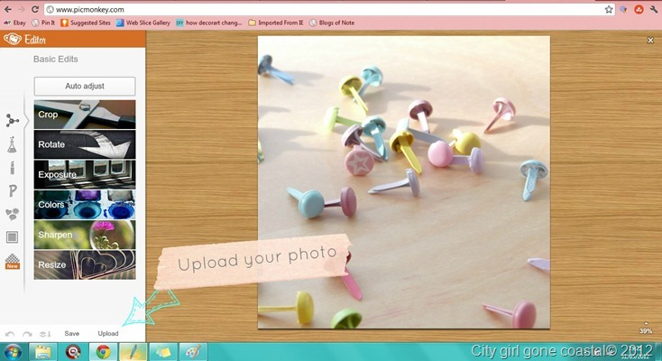 upload photo for blog button