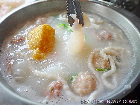 JPOT Seafood, pork ball, fish slice, yong tau fu in silky porridge