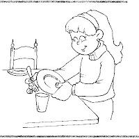 Los Niños Y Las Tareas Del Hogar Dibujos Para Pintar