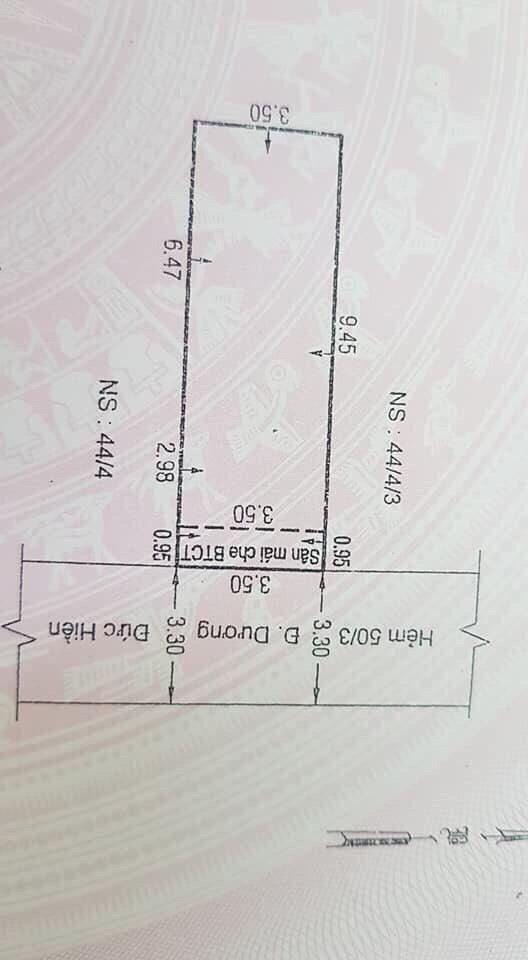 Bán nhà hẻm Dương Đức Hiền Quận Tân Phú 3