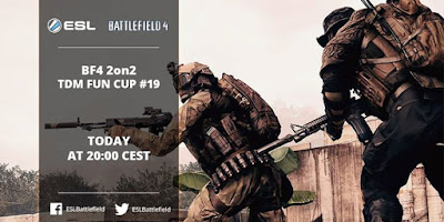 Join the Battlefield 4 Europe 2on2 TDM Fun Cup 19 tonight at