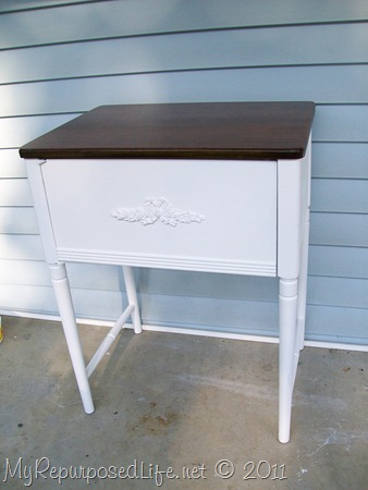 pretty white side table