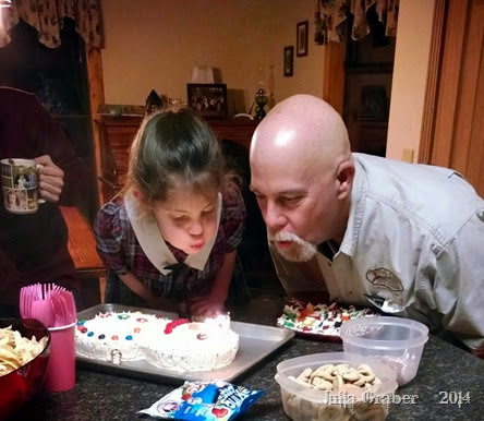 Georgi & Andy Blow Candles