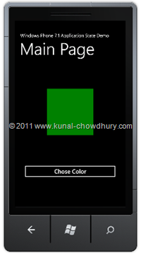 State Change UI (WP7 Application State Management Demo)