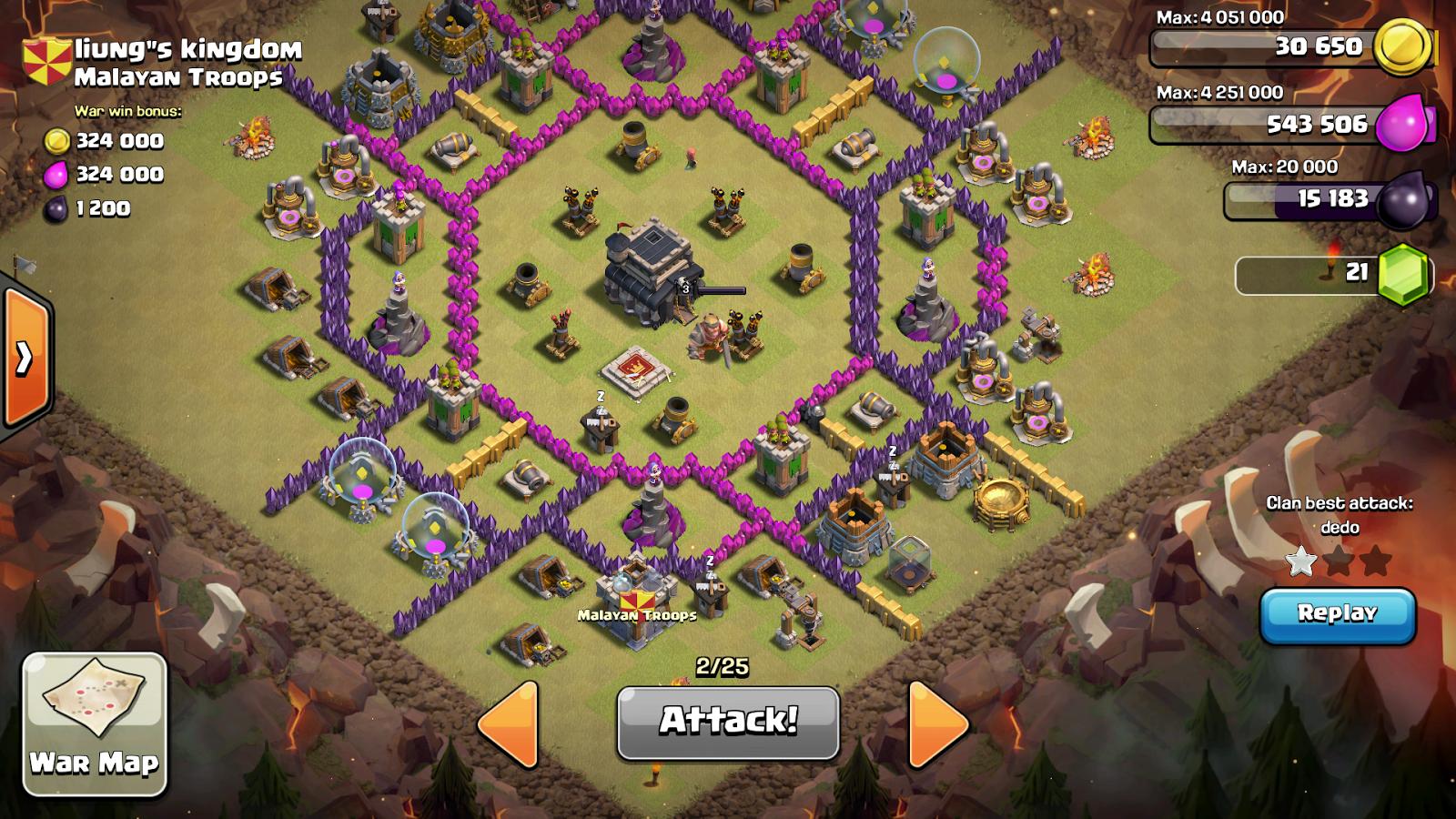 Base War Terbaik Dan Terkuat Town Hall Level 9 Untuk War Clan