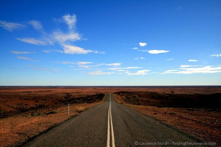 Classic outback scenery Australia road trip