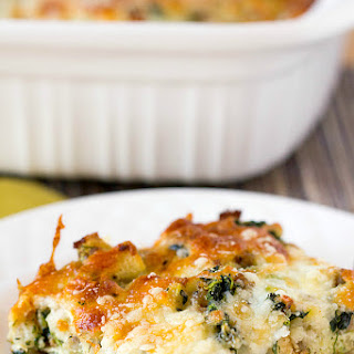 Cheesy Sausage Spinach Breakfast Casserole