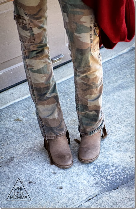 camo and ankle boots